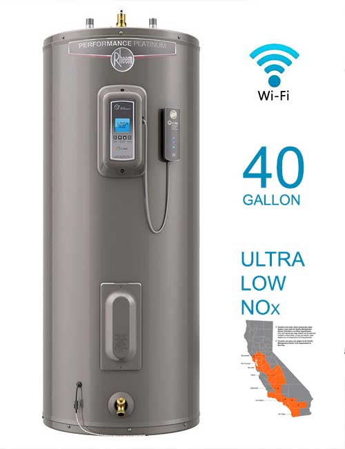 Tall 12 Year 36,000 BTU ENERGY STAR Ultra Low NOx Natural Gas Water Heater with WiFi Module.