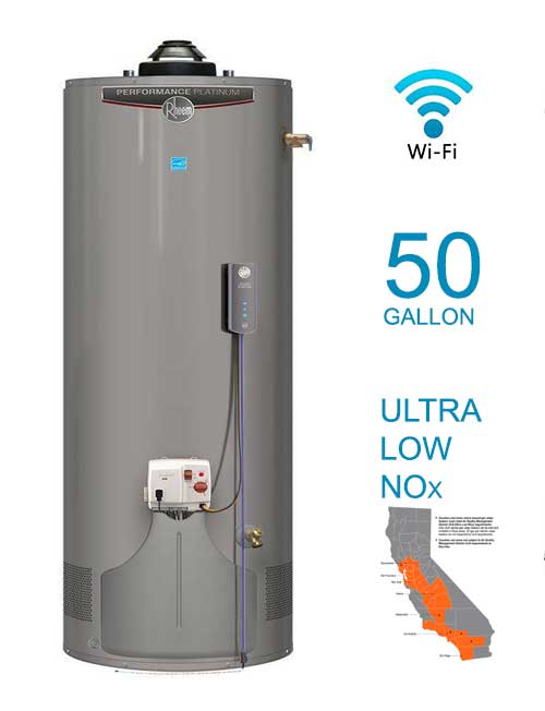 Tall 12 Year 36,000 BTU ENERGY STAR Ultra Low NOx Natural Gas Water Heater with WiFi Module