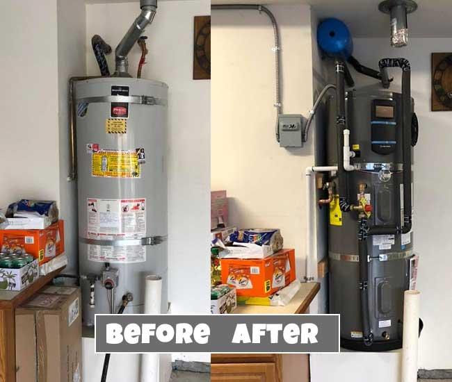 water heater heat pump example