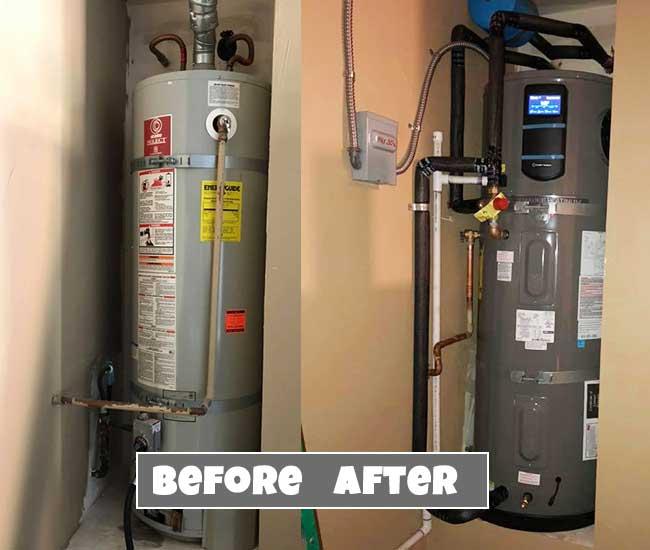 heat pump water heater example